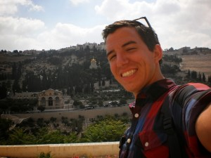 Standing in front of the Holy City, Jerusalem