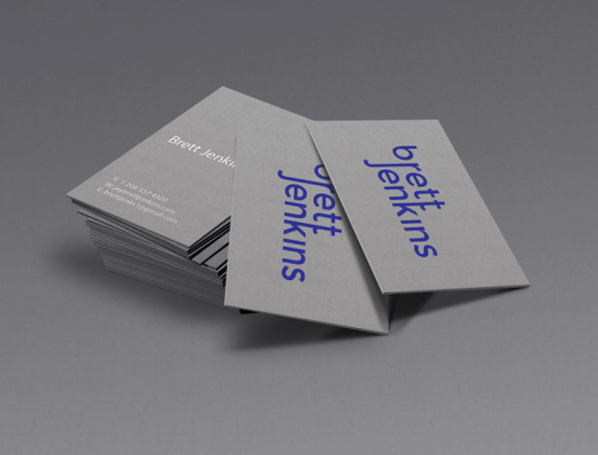 Brett Jenkins logo business card mockup