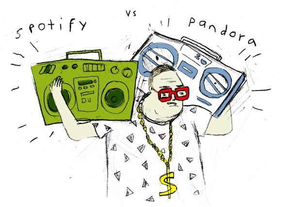 Spotify Vs. Pandora Pimp